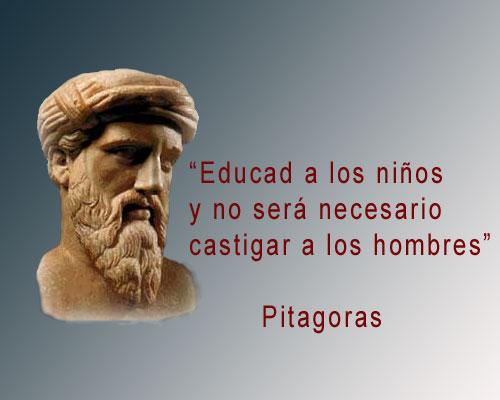 Frase De Pitagoras De Educacionenseñanzatrabajofortuna